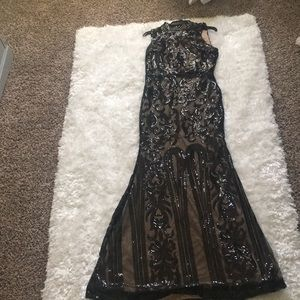 Detailed beaded gown